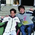 子どもたちが車椅子バスケに挑戦
