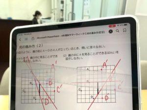 iPadに描いた線をティッシュで?